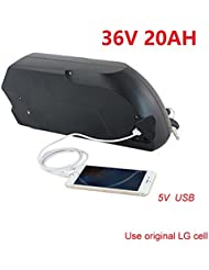 Free shipping and customs tax Li-ion electric bike battery 36v 20AH Tigershark down tube ebike battery with USB port and bms Use LG 18650 Cell+5A charger