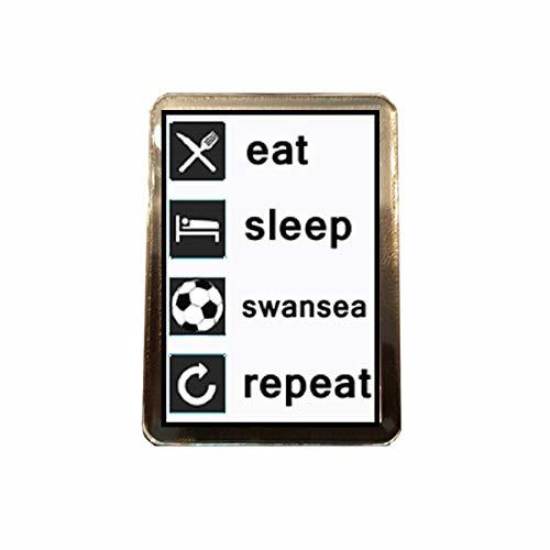 B Gifts Swansea City F.C - Eat, Sleep, Repeat Fridge Magnet