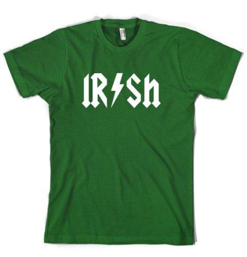 Crazy Dog TShirts - Kids Irish Rockstar Band Logo T Shirt Funny Saint Patricks Day Youth Shirt (Green) S - jungen - S (Patricks Day Youth T-shirt)