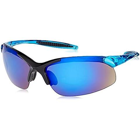 Radianti IN2–70rad-infinity sportivo leggero blu telaio occhiali con lenti a specchio blu