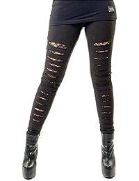 9289d156c5a5a Vixxsin Punk Slasher Ripped Sexy Long Leggings Skinny Stretch Full Length  Gothic