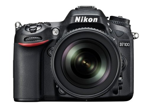 Nikon D7100 SLR-Digitalkamera (24 Megapixel, 8 cm (3,2 Zoll) TFT-Monitor, Full-HD-Video) Kit inkl. AF-S DX 18-105 mm 1:3,5-5,6G ED VR Objektiv schwarz -