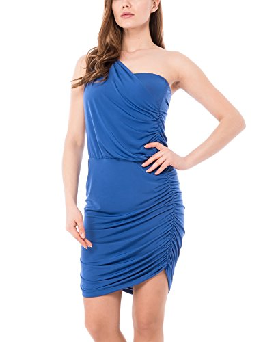 Les Sophistiquees Abito Monospalla, Robe Femme bleu (Royal)