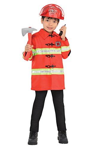 Firefighter Kit Kids Fancy Dress Fire Brigade Uniform Boys Girls Childs Costume