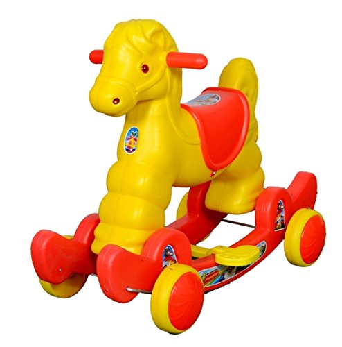 Her Home Red Murphy Horse 2-in-1 Rocker Cum Ride-on for Kids