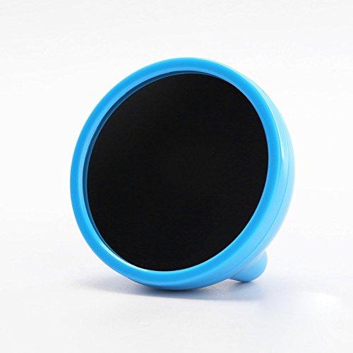Preisvergleich Produktbild ZHGI Schönheit mini led-Spiegel Spiegel kreative Schüler Kinder der Nachtmodus elektronischen Uhr leuchtenden Mute kleiner Wecker, Blau