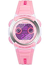 Hiwatch Reloj Multifuncional LED Digital a Prueba de Agua Relojes para los Niños Rosa
