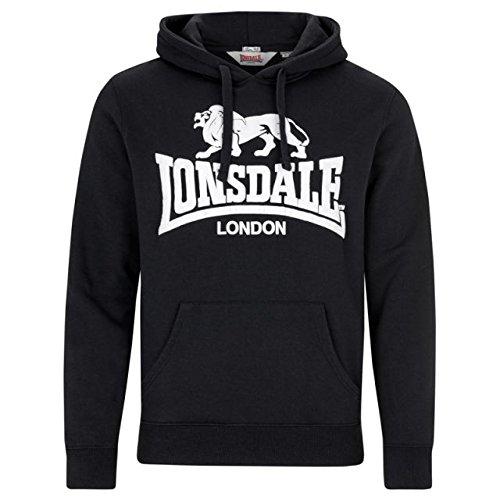 Lonsdale London Gosport 2 Sudadera con Capucha, Hombre, Negro, Extra-L
