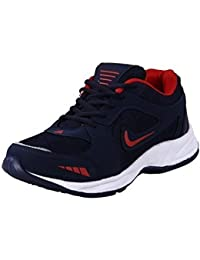 Rockfield Men's Running Shoes - Black & Red