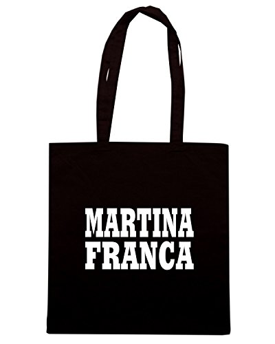 T-Shirtshock - Borsa Shopping WC0962 MARTINA FRANCA ITALIA CITTA STEMMA LOGO Nero