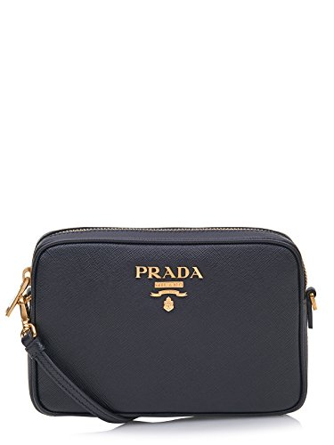 BAG MINI PRADA, con zip,logo,pelle stampata,scomparti interni,tracolla removibile,Manico singolo, 100%CALF LEATHER MADE IN ITALY