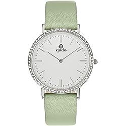 Qudo Ladies Watch Light Green/Silver/Light 801590
