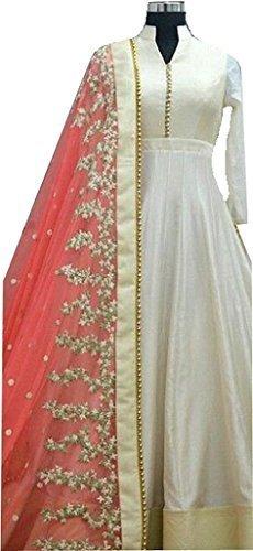 vaankosh fashion beautiful pink colour banglory silk salwar suit