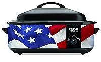 Nesco American Harvest 4818-76 Patriotic Roaster Oven, 18 quart, Red/White/Blue