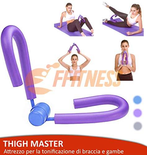 ffitness attrezzo ginnico thigh master per allenare gambe e braccia | home fitness trimmer | allenamento interno coscia (viola)