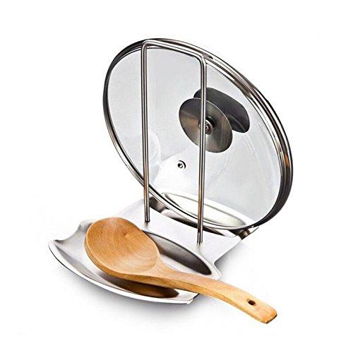 Edelstahl Pan Pot Rack Deckel Suppenlöffel Rest Stehen Löffel Halter Spüle Spong Halter Haushaltswaren Für Küchenzubehör