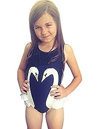 OverDose Traje de baño de impresión de una pieza de la niña de los cabritos del traje de baño del bikiní del bañador
