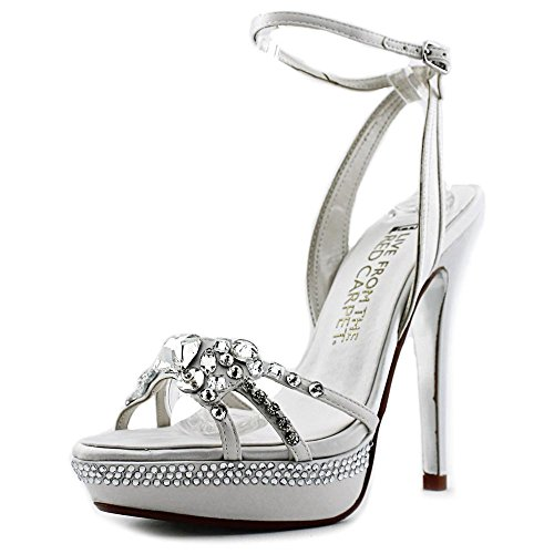 E! Live From The Red Carpet Lola Satin Sandales white