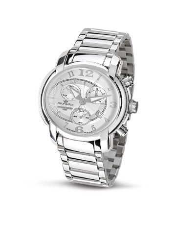 Philip Watch - R8273650145 - Montre Mixte - Quartz Analogique - Chronographe - Bracelet en Acier