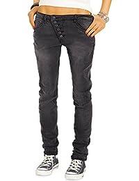 Bestyledberlin Damen Jeans Baggy Style, Relaxed Boyfriend Jeans, Low Rise Loose Fit Hosen j01g