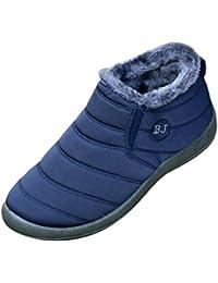 Botas de tobillo de las mujeres impermeables zapatos de ocio de invierno calientes botas de nieve alineados Inicio zapatos