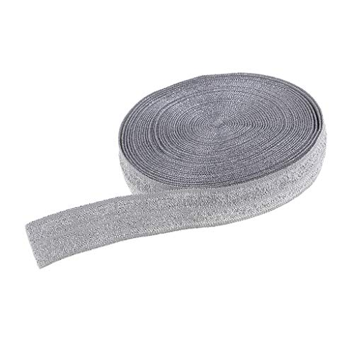 IPOTCH 5 Meter Glitzer Gummiband Hosengummi Nähband für Nähen von Perücken Kleidung Röcke Hosen DIY Projekte - Grau -