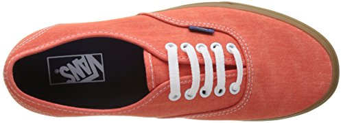 Vans Herren Ua Authentic Sneakers Orange (Washed Canvas)