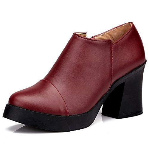 Chaussures de dames talons chunky au printemps/Chaussures de loisirs A