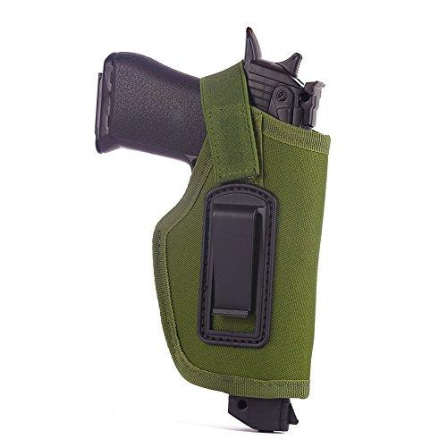 Etopfashion Tactical verborgen innerhalb des Bund-Gurt-Pistolen-Pistolenhalfter Passt zu Glock 26, 27, 30, 43, 40, 45 Auto, Ruger LC9, LC380 und ähnliche Größen-kompakte und subkompakte Pistolen
