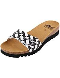Scholl Luwin Black White Optical Printed Synthetic