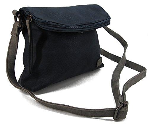 Stefano, Borsa a spalla donna Nero M4 grau/schwarz Maße ca. 33 x 35 x 10,5 cm M1 blau/grau