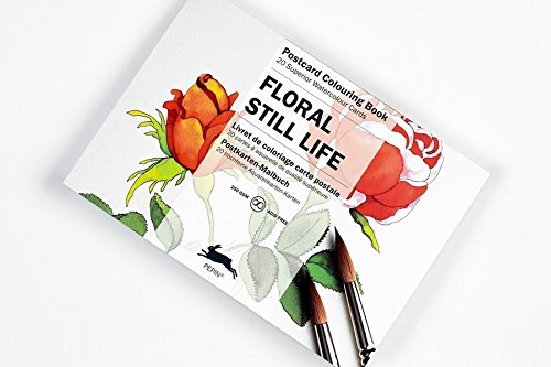 Floral Still Life: Postcard Colouring Book; 20 superior watercolour cards
