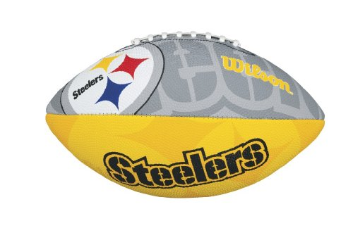 Wilson - NFL Team Logo Pittsburgh Steelers Junior Official, color grey/yellow