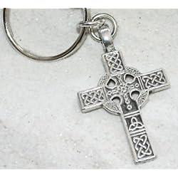 Trilogy Jewelry Cruz Celta Irlandés nudo llavero clave cadena etiqueta llavero anillo