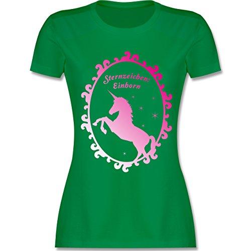 Statement Shirts - Sternzeichen: Einhorn - tailliertes Premium T-Shirt mit Rundhalsausschnitt für Damen Grün