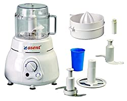 Asent AS-981AK 650W Atta Kneader/Food Processor 3 in 1 with Citrus Juicer