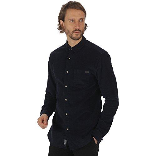Regatta great outdoors - benton - camicia a manica lunga in velluto a coste - uomo (m) (blu navy)