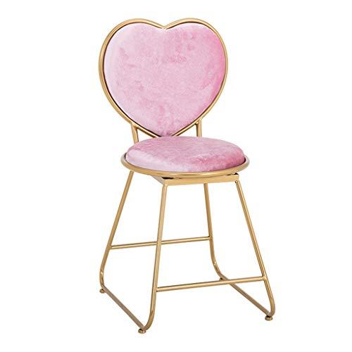 Barstuhl Bartheke Höhe Stuhl Bar Hohe Bank Stuhl Schlafzimmer Dressing Stuhl Tee Shop Maniküre Stuhl Last 200 kg (Color : PINK, Size : 38 * 47 * 81CM)