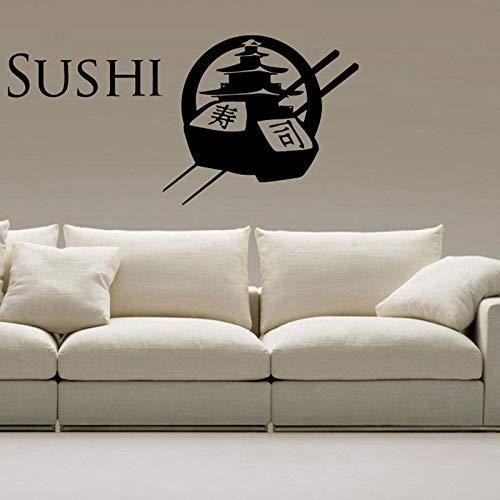 Sushi Aufkleber Restaurant Aufkleber Poster Vinyl Wandtattoos Aufkleber Wand Bord Dekor Wandbild Sushi Aufkleber 40x82CM