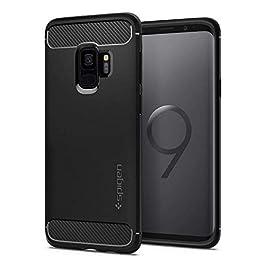 Spigen Galaxy S9 Case [Rugged Armor] Original Patent Carbon Fiber Design Galaxy S9 (2018) Cover Shock Absorption – 592CS22834 [Black]