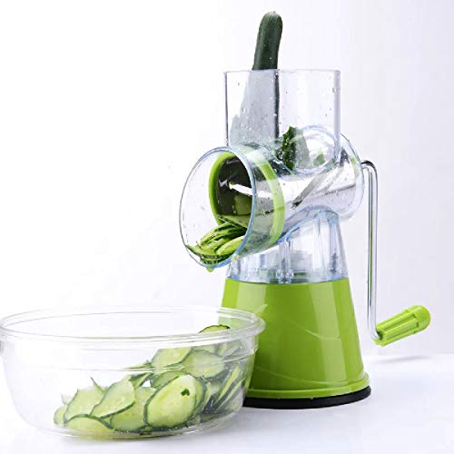 YLIK Multifunktionshandbuch, Gemüse, Obst Cutter Shredder Spiralschneider Dicer Rund Kartoffel-Käse Küchenhelfer Werkzeuge