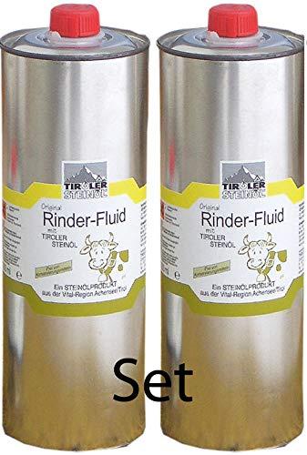 Tiroler Steinöl - Bremsenöl, Set mit 2 Stück a 1000 ml zum Vorteilspreis | Fliegenöl gegen Insekten, Fliegen, Bremsen, Zecken usw