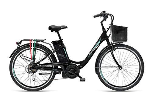 "Armony Firenze, Bicicletta Elettrica Unisex Adulto, Nero Opaco, 26\"""