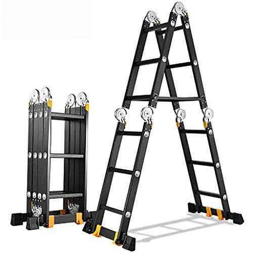Multifunktion Zusammenlegbar Leiter,multi-zweck Treppenleiter Ausfahrbare Portable Anti-slip Leiter Aluminium-legierung Leiter-a2.5mm 1.8+1.8m (Portable Storage-schuppen)