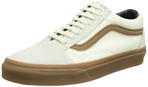 Vans Old Skool, Baskets Basses Mixte Adulte Beige (Gum Sidestripe/White)