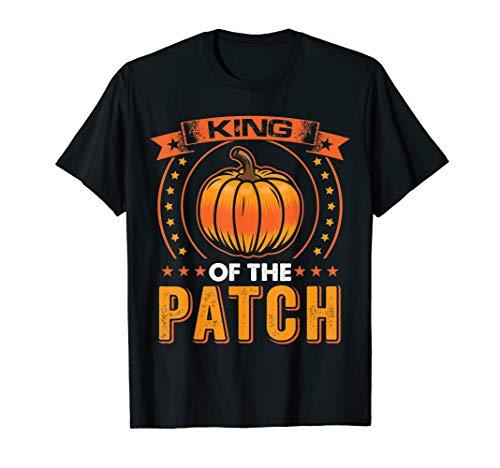 Halloween Kürbis König der Patch Familie T-Shirt (Der Kürbis König Kostüm)