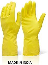 Mayumi Premium Reusable Latex Silicone Safety Gloves for Washing, Cleaning, Kitchen, Garden and Sanitation (Co