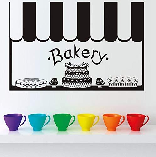 Dalxsh Aufkleber Kuchen Bäckerei Dekor Französisch Vinyl Wandaufkleber Tapete Wandbild Dekoration Diy Küche Fliesen Wandkunst 30X60 Cm