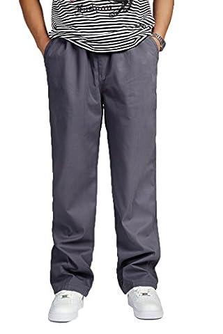 Vintage l?ssiger-lockerer Mann Hose m?nnlichen entspannt Plus Size Hose Baumwolle