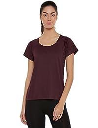 Clovia Women Activewear Round Neck T-shirt